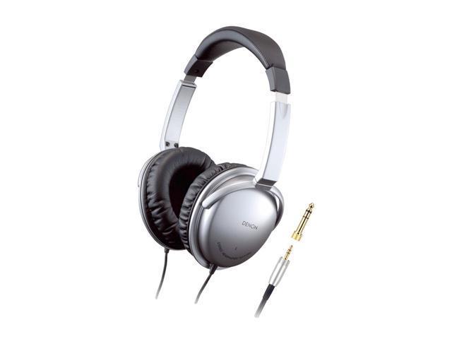 Denon AH-D1000S 3.5mm/ 6.3mm Connector Circumaural High Quality Headphones Silver