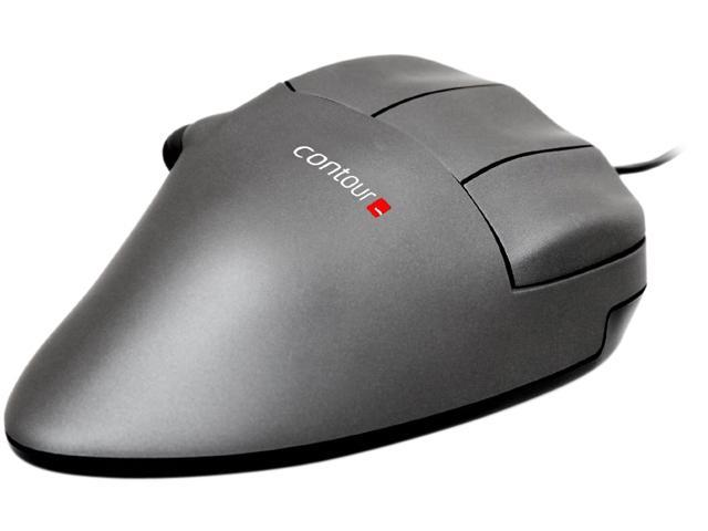 contour DESIGN CMO-GM-S-R Gunmetal Gray 5 Buttons USB Wired Optical Mouse