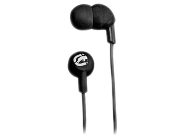 DigiPower EKU-CHA-BK 3.5mm Connector Canal Ecko Chaos Earbuds in Black