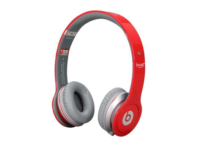 Beats by Dr. Dre Red Beats Solo HD 3.5mm Connector On Ear Headphone with ControlTalk (Red)