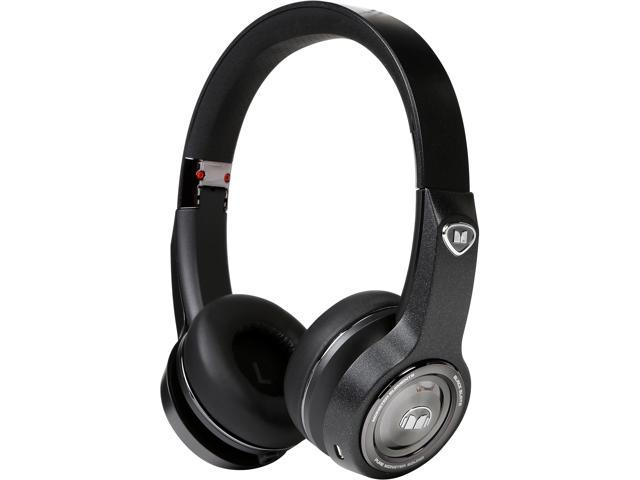 Monster MH ELMT ON BK BT WW Elements Wireless Bluetooth On-Ear Headphones - Black Slate
