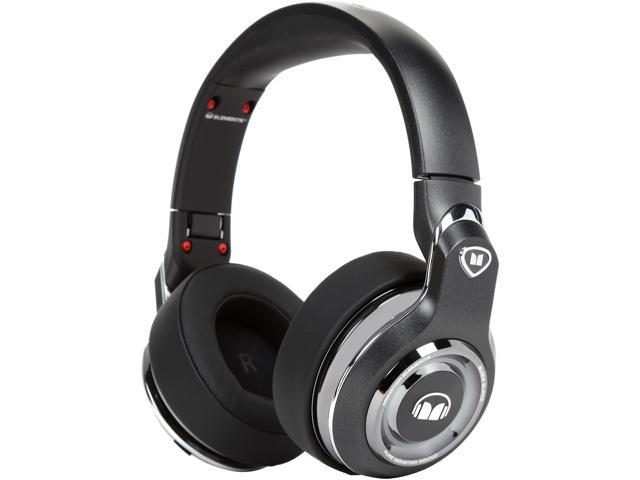 Monster Elements Over-Ear Bluetooth Headphones with Controls (Black Slate)