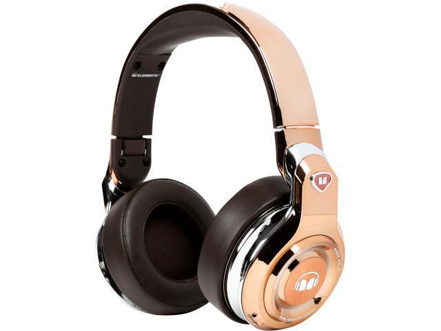 Monster MH ELMT OE RGLD BT WW Elements Wireless Bluetooth Over-Ear Headphones - Rose Gold