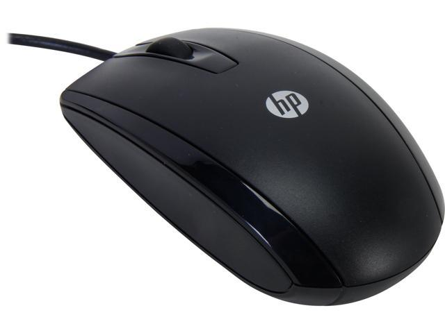 HP KY619AA#ABA Black 3 Buttons 1 x Wheel USB Wired Optical Mouse