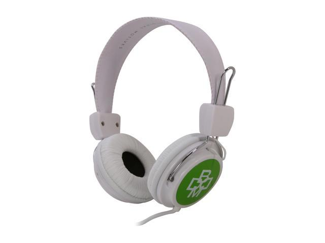 BOOM RGGW 3.5mm Connector Over-Ear Renegade Headphone - White & Green