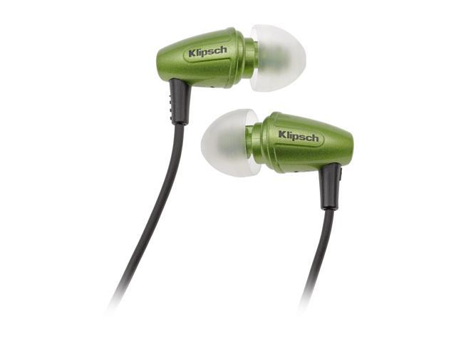 Klipsch Galaxy Green Image S3 3.5mm Connector Canal Galaxy Green Nosie-Isolating Earphone W/Patented Oval Ear-tips