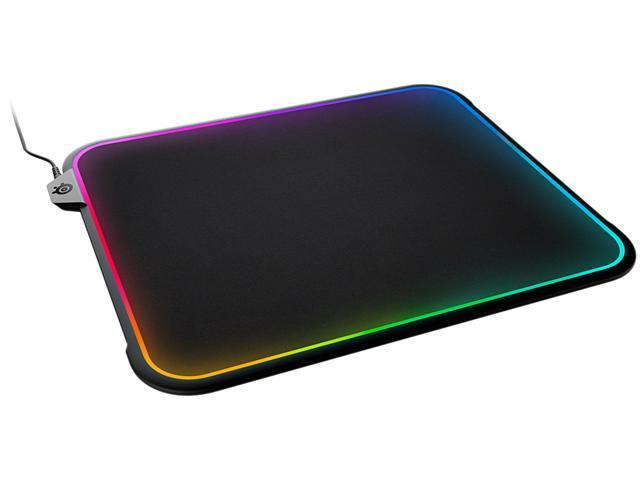 SteelSeries QcK Prism RGB Mousepad, Dual-Surface, 12-Zone Lighting