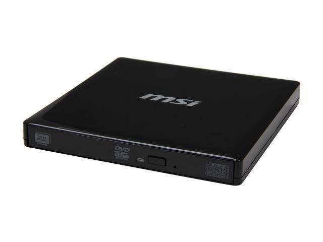 MSI USB 2.0 External Slim DVD Burner Model UO700-K