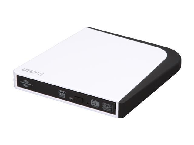 LITE-ON USB White 8X External Slim DVD Writer Model eSAU208-101 LightScribe Support