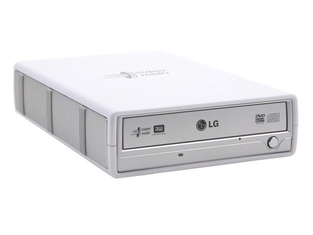 LG White IEEE 1394 /  USB 2.0 External DVD Burner With 5X DVD-RAM Write Model GSA-5163D