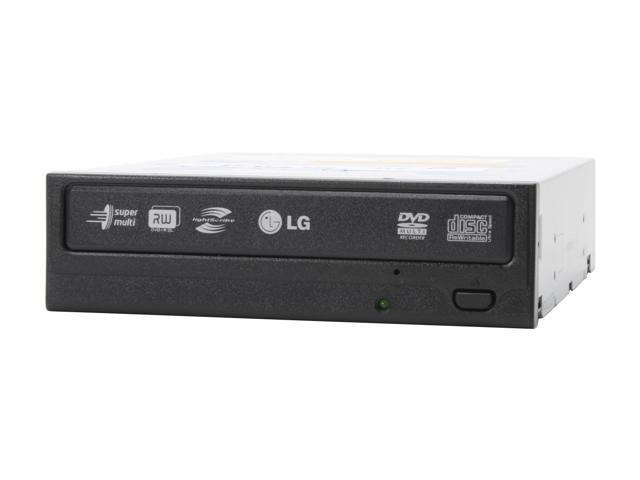 LG 18X DVD±R Lightscribe DVD Burner Black IDE Model GSA-H44LK LightScribe Support - OEM
