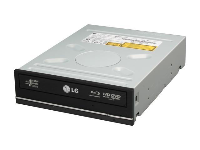 LG Black 6X Blu-ray Disc Burner & HD DVD-ROM Drive SATA Model GGW-H20L