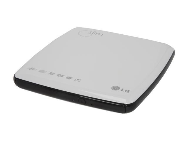 LG USB 2.0 External Slim 8X DVD Drive Mac Compatible USB-Powered Model GP08NU10