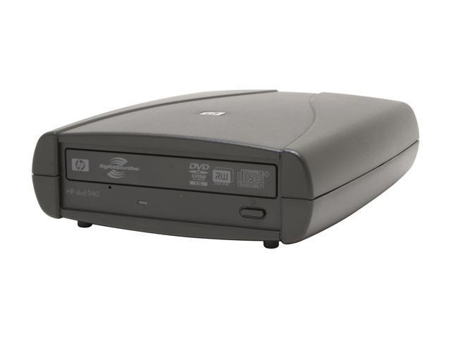 HP USB 2.0 External 18X DVD Drive with 12X DVD-RAM Write and LightScribe Model HP 940 E LightScribe Support