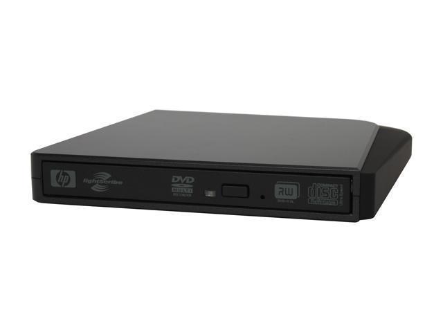 HP USB 2.0 Slim External 8X DVD±R Burner Model dvd555S LightScribe Support