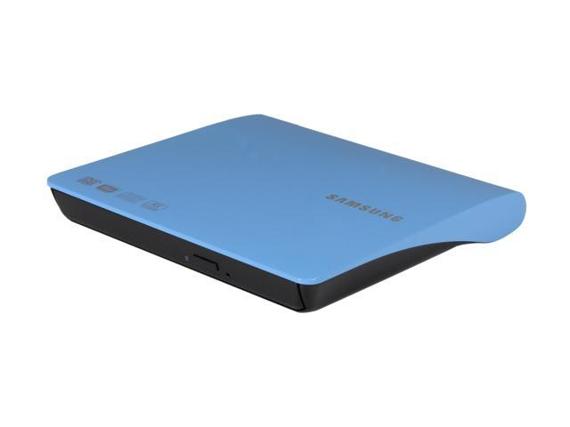 SAMSUNG USB 2.0 Slim External 8X DVD Burner - Blue Model SE-208AB
