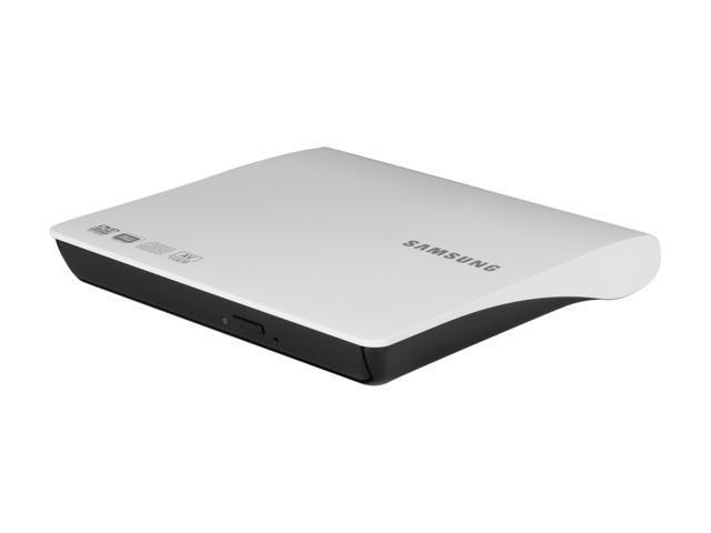SAMSUNG USB 2.0 Slim External 8X DVD Burner - White Model SE-208AB