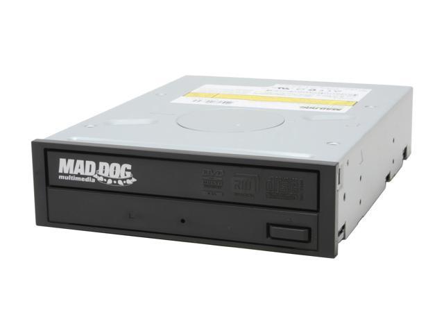 MadDog 16X DVD±R DVD Burner With 5X DVD-RAM Write Black IDE Model MD-16X3DVD9-8X - OEM