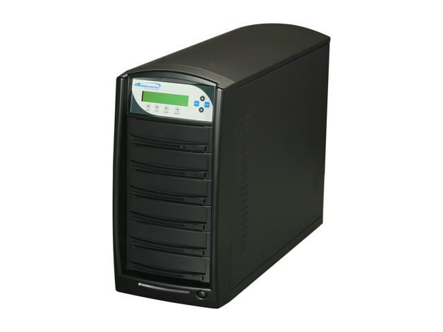 VINPOWER Black 1 to 5 CD/DVD Duplicator with 250GB Hard Drive Model VP4690-OPT-5BK-250GB