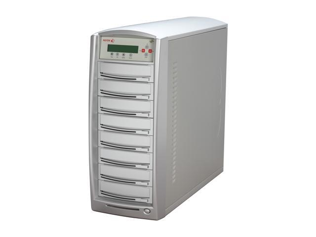 Xerox 1 to 7 SATA CD/DVD Tower Duplicator LightScribe & CopyProtection Supported 250GB HDD + USB Model D107LS