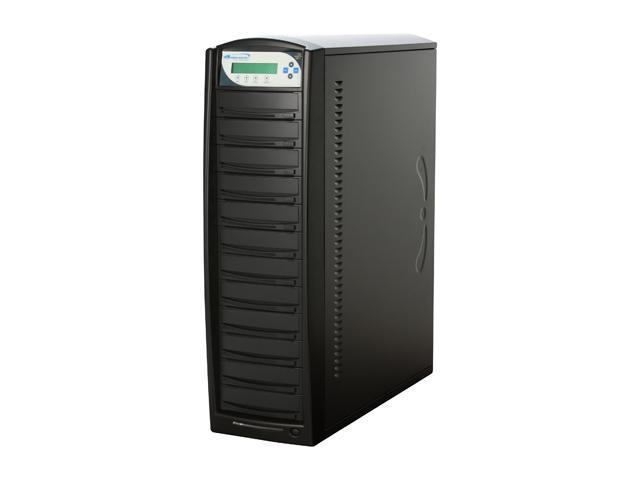 VINPOWER Black 1 to 11 DVD/CD Tower Duplicator with 250GB HDD LightScribe Support Model VP4690-LS-11BK-250GB