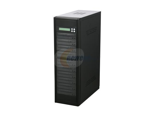 VINPOWER Black 1 to 9 Econ Series SATA 24X DVD/CD Tower Duplicator Model Econ-S9T-DVD-BK