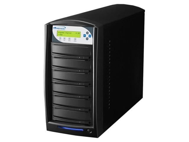 VINPOWER Black 1 to 5 SharkCopier DVD CD Disc Duplicator Tower with 320GB Hard Drive Model Shark-S5T-SNY-BK