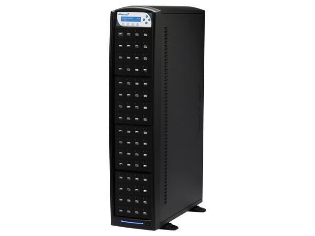 VINPOWER Black 1 to 63 USBShark USB Flash Copy Tower Duplicator Model USBSHARK-63T-BK