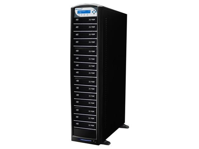 VINPOWER Black 1 to 15 SharkNet Network Capable Blu-ray DVD CD Duplicator + USB 3.0 + 500GB HDD Model SharkNet-15T-BD-BK