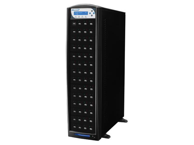 VINPOWER Black 1 to 55 USBShark USB Flash Copy Tower Duplicator Model USBSHARK-55T-BK