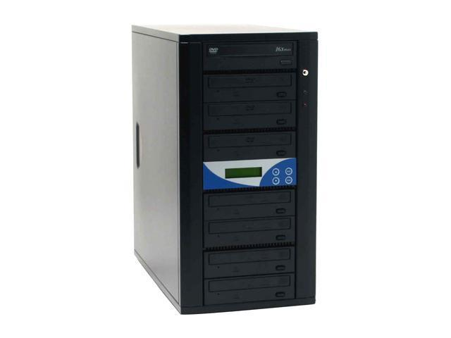 Spartan Black 1 to 7 DVD Duplicator With Pioneer Drive,Master Error Proof,Password protect,Counter Model DM-ILY-ADP167(B)