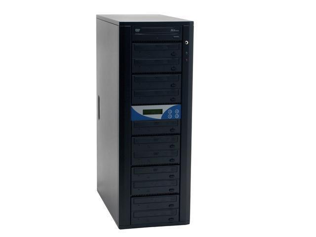 Spartan Black 1 to 11 DVD Duplicator With Master Error Proof,Password protect,HD 80GB Model DM-ILY-ADP1611(B) HD