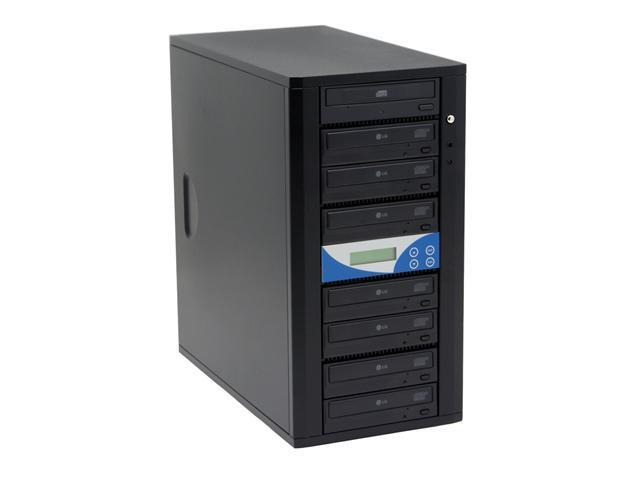 Spartan Black 1 to 7 CD Duplicator with LG drive Model DM-ACL527(B)BK