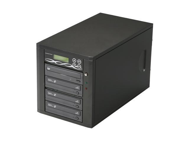 Spartan Black 3 Target CD/DVD Light Scribe Tower Duplicator Model D03-SSP-L