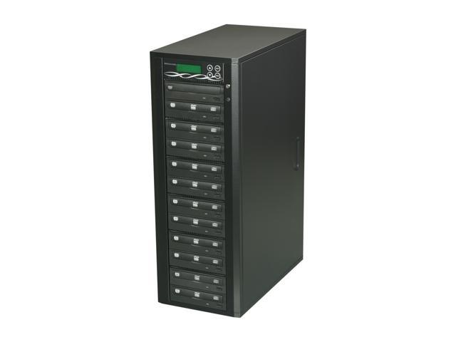 Spartan Edge Black 1 to 11 Target SATA 24X DVD/CD Tower Duplicator Bonus of USB Card  Model D11-SSP