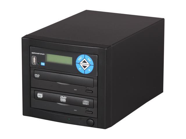 Spartan Black 1 Target Duo SATA DVD Duplicator with USB Slot Model D01-SDSP