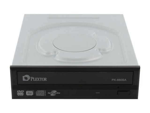 PLEXTOR 24X DVD Writer Black SATA Model PX-880SA-26 LightScribe Support