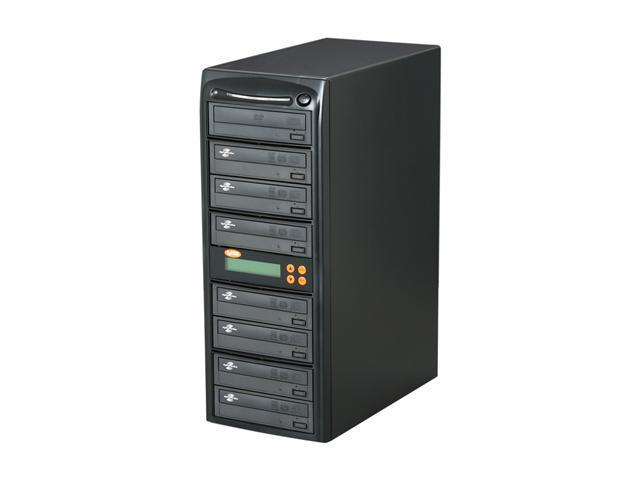 Systor Black 1 to 7 CD/DVD Duplicator LightScribe Support Model 07ALTALS22HDD