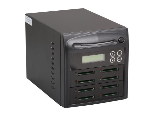 Systor Black 1 to 7 Up to 256MB Buffer Memory Compact Flash/CF Memory Card Duplicator Model SYS07CF