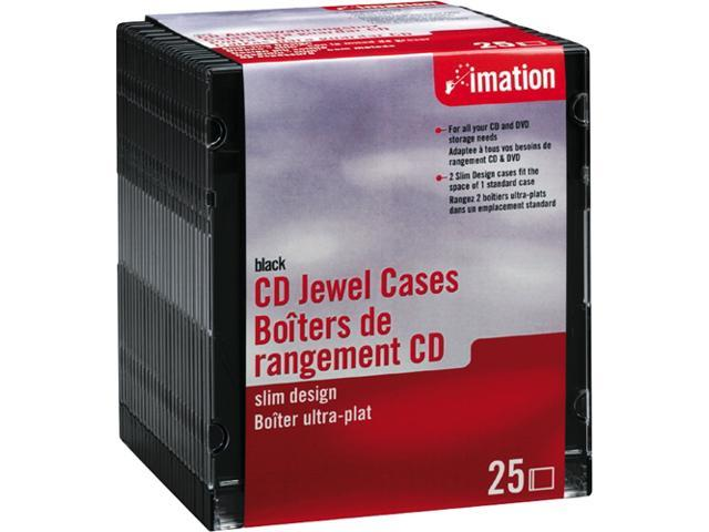 imation 41017 25 Pack Black CD Storage Cases