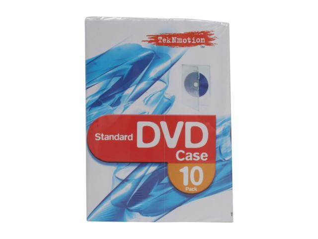 TekNmotion TM-DVD10RCC Single Standard Crystal Clear DVD Case 10pk