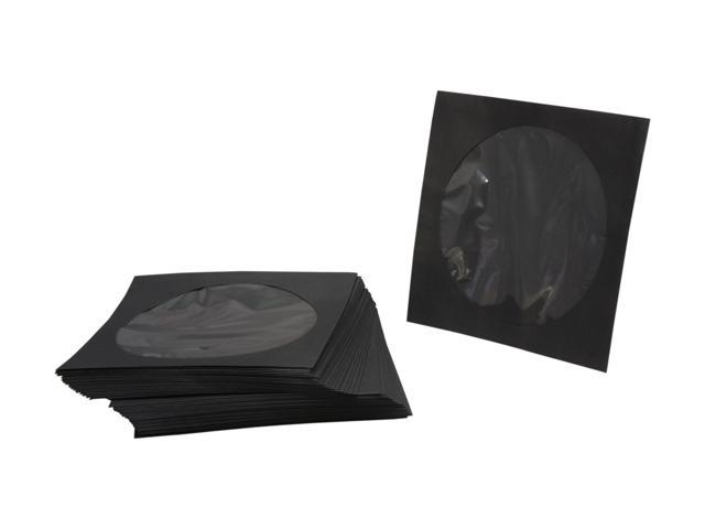 TekNmotion TM-BS50 50 Single Disc Black Paper Sleeves