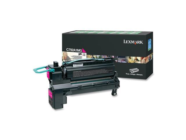 LEXMARK C792A1MG Toner Cartridge, 6000 Pages Yield; Magenta