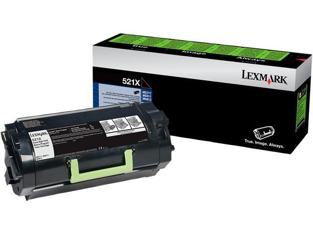 LEXMARK 52D1X00 521X Extra High Yield Return Program Toner Cartridge - Black Black