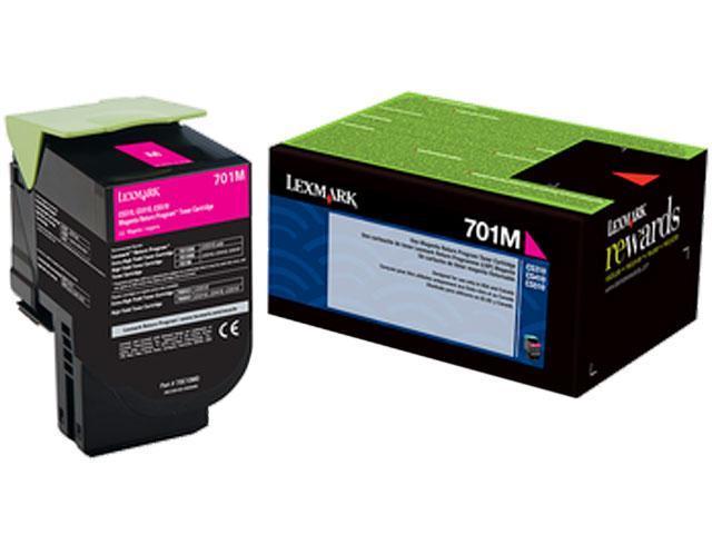 LEXMARK 70C10M0 (701M) 701M Magenta Return Program Toner Cartridge Magenta