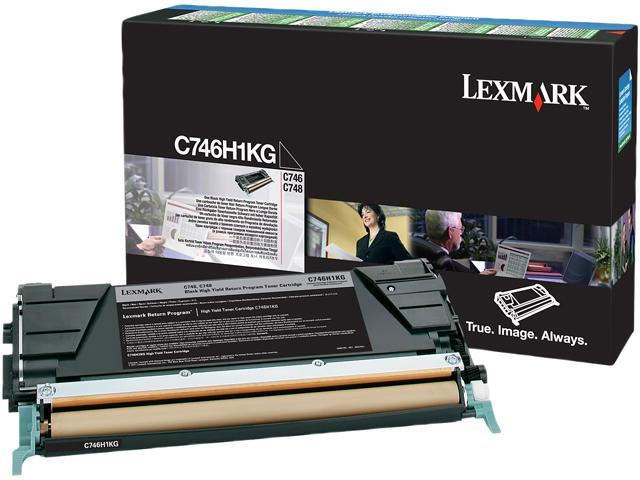 LEXMARK C746H1KG C746, C748 Black High Yield Return Program Toner Cartridge Black