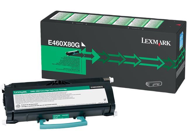LEXMARK E460X80G Extra High Yield Toner Cartridge Black