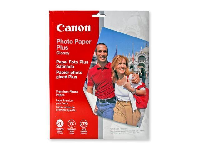 Canon USA 2311B001 Photo Paper Plus Glossy II, 69 lbs., 8-1/2 x 11, 20 Sheets/Pack