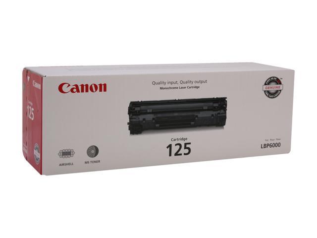 Canon Cartridge 125 (3484B001) Laser Toner Cartridge Black