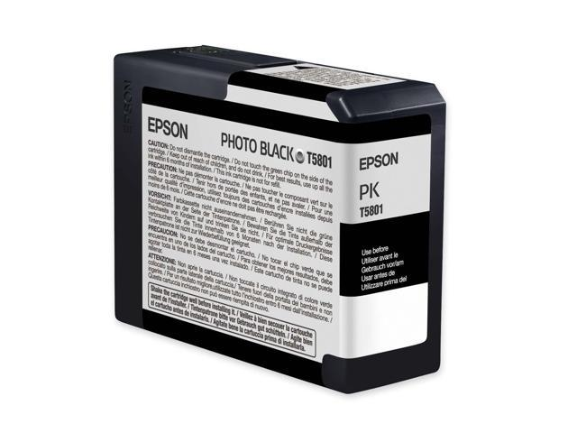EPSON T580100 80 ml Photo UltraChrome K3 Ink Cartridge Photo Black